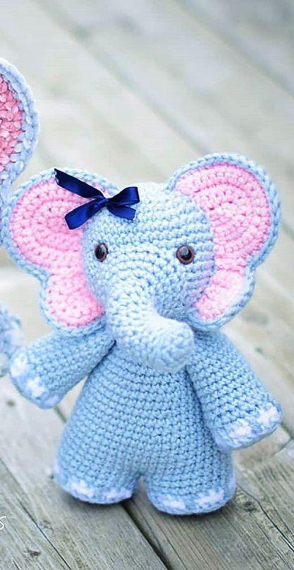 Elefante Amigurumi Em Croche - R$ 59,00 em Mercado Livre | 808x417