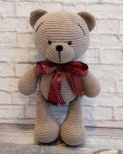 Urso grande de crochê no Elo7 | Caraminholas Croche (D74534) | 513x410