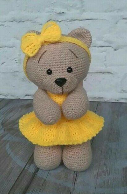 Amigurumi de Crochê Urso baby grande no Elo7 | Mix Rô (DFF4DA) | 627x411