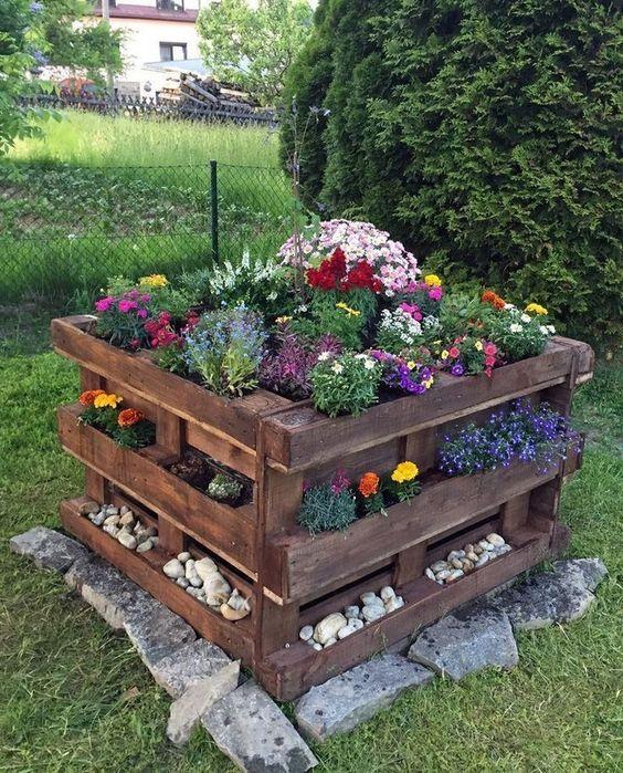 Ideias Com Pallets Para Jardim